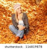 photo of cute blond girl... | Shutterstock . vector #116819878