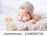 Sweet Newborn Baby Sleeps With...
