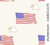 Usa Flag Bald American Eagle...