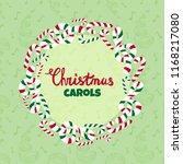 christmas carols vector poster. ... | Shutterstock .eps vector #1168217080