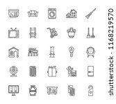collection of 25 home outline... | Shutterstock .eps vector #1168219570
