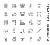 collection of 25 vehicle... | Shutterstock .eps vector #1168219669
