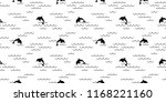 dolphin seamless pattern vector ... | Shutterstock .eps vector #1168221160