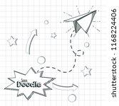 school supplies doodle   Shutterstock .eps vector #1168224406