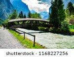 summer landscape in the alps in ...   Shutterstock . vector #1168227256