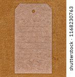 Stock photo vintage blank label on the brown leather background 1168230763