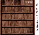 vector wood shelf design | Shutterstock .eps vector #116823130