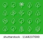 geometric trees paper cut line... | Shutterstock .eps vector #1168237000