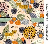 seamless pattern with cute... | Shutterstock .eps vector #1168237996