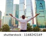 back view of businessman...   Shutterstock . vector #1168242169