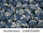 stone gabion with grey stones | Shutterstock . vector #1168252600