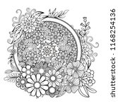 adult coloring page with... | Shutterstock .eps vector #1168254136