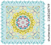 decorative colorful ornament on ... | Shutterstock .eps vector #1168268749