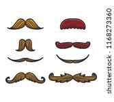 set of various mustache for... | Shutterstock .eps vector #1168273360