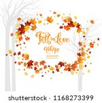 fall in love leaves | Shutterstock .eps vector #1168273399