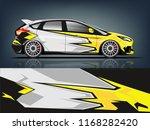 hatchback racing car wrap... | Shutterstock .eps vector #1168282420
