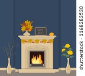 autumn decor in the home... | Shutterstock .eps vector #1168283530