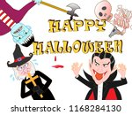 on the day of halloween  jack o'... | Shutterstock .eps vector #1168284130