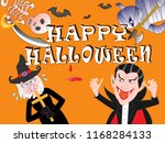 on the day of halloween  jack o'... | Shutterstock .eps vector #1168284133