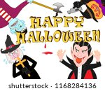 on the day of halloween  jack o'... | Shutterstock .eps vector #1168284136
