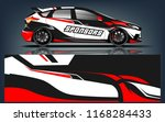 rally and racing car wrap... | Shutterstock .eps vector #1168284433