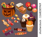 halloween candy and treats | Shutterstock .eps vector #1168285969