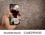 football player with a red... | Shutterstock . vector #1168290430