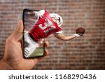 football player with a red... | Shutterstock . vector #1168290436
