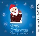 merry christmas   happy new... | Shutterstock .eps vector #116829574