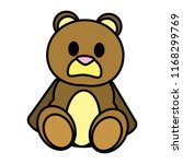 color bear teddy cute toy... | Shutterstock .eps vector #1168299769