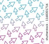 degraded line arrow sign...   Shutterstock .eps vector #1168301716