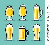 beer glass. vector illustration | Shutterstock .eps vector #1168301980