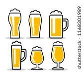beer glass. vector illustration | Shutterstock .eps vector #1168301989