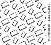 grunge electronic laptop... | Shutterstock .eps vector #1168302550
