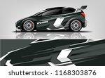 car decal wrap design vector.... | Shutterstock .eps vector #1168303876