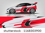 car decal wrap design vector.... | Shutterstock .eps vector #1168303900