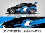 car decal wrap design vector.... | Shutterstock .eps vector #1168303906