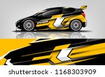 car decal wrap design vector.... | Shutterstock .eps vector #1168303909