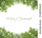 christmas green framework... | Shutterstock . vector #116830663