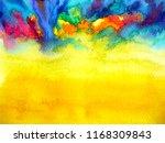abstract art watercolor... | Shutterstock . vector #1168309843