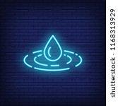 water drop neon sign. harmony ... | Shutterstock .eps vector #1168313929