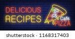 delicious recipe  cafe pizza... | Shutterstock .eps vector #1168317403