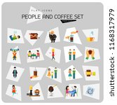people and coffee icon set.... | Shutterstock .eps vector #1168317979
