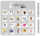 people icon set. family showing ... | Shutterstock .eps vector #1168318246