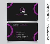 dark purple name card and... | Shutterstock .eps vector #1168318366