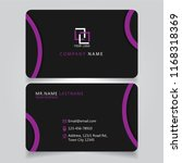 dark purple name card and... | Shutterstock .eps vector #1168318369