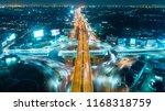 aerial view highway road... | Shutterstock . vector #1168318759