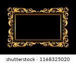 gold vintage ornament frame on... | Shutterstock .eps vector #1168325020