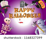 on the day of halloween  jack o'... | Shutterstock .eps vector #1168327399