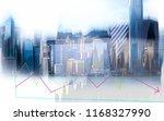double exposure of businessman... | Shutterstock . vector #1168327990